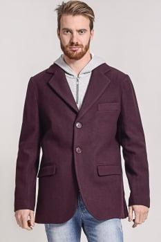 Blazer masculino de lã corte italiano vinho