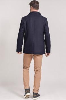 Blazer masculino de lã gola sport azul