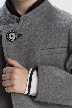 Casaco de lã infantil menino cinza