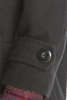 Casaco de lã infantil menino fechamento zíper cinza