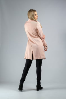Trench coat alfaitaria texturizado rosa